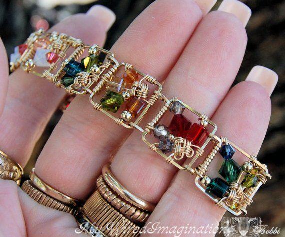 Wire Bracelets With Charms: DIY Bracelet, Link Bracelet Pattern, Story Teller Link