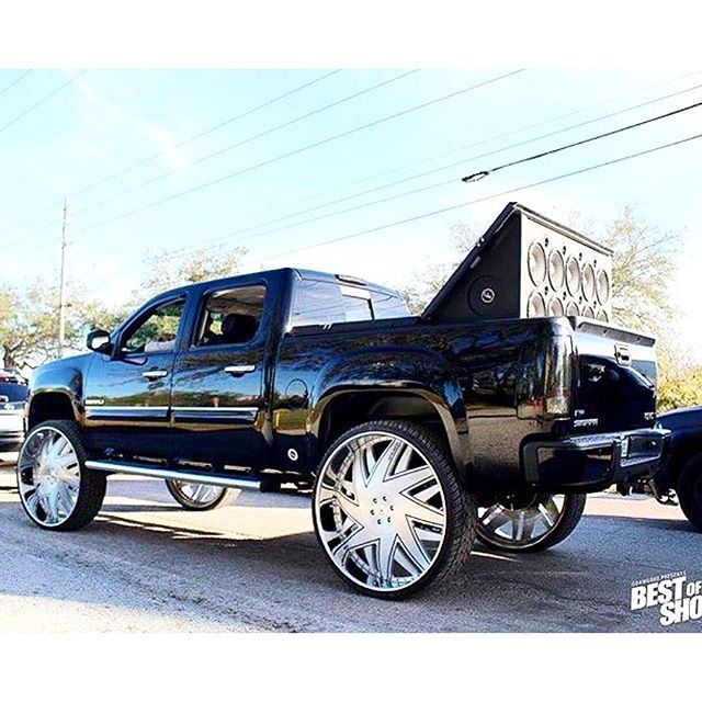 "GMC Denali Truck on 34"" Amani Forged Forziano's"