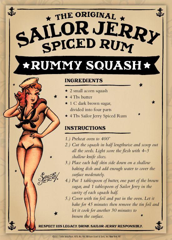 Sailor Jerry Spiced Rum Rummy Squash.... ohhhh yeahhhh!