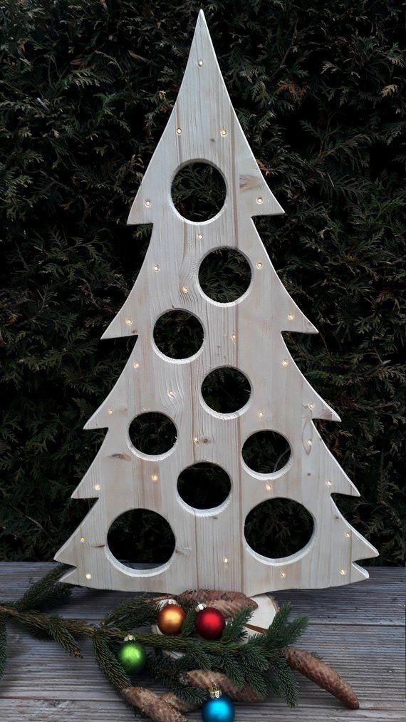 Weihnachtsdeko Xmas.Weihnachtsbaum Holzdeko Led Advent Weihnachtsdeko Baum Kugeln Etsy