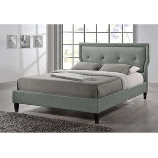 Shop for Baxton Studio Russo Modern Tufted Grey Platform Bed and more for everyday discount prices at Overstock.com - Your Online Furniture Store!