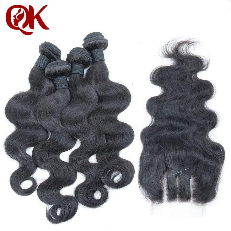Peruana Virgin Hair Body Wave 4 Bundles with 3 way parte lace closure 5 unids mucho sin procesar extensiones armadura del pelo humano de la onda del cuerpo