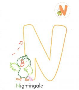 alphabet-letter-n-nightingale-coloring-page-for-preschool