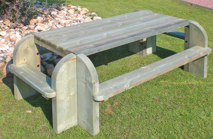 Table Bois Exterieur - 17 Best images about table de jardin on Pinterest Woodworking plans, Picnic table plans and
