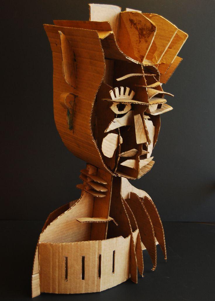 Naum Gabo inspired cardboard sculpture. lesson I did at Cheltenham High School