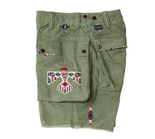 dcd4e109bc Polo-Ralph-Lauren-Men-Military-Army-Southwestern-Aztec-Tribal-Cargo -Shorts-Pants