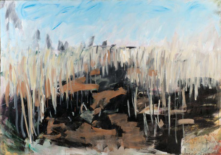 Tomáš Bambuešek | Ideální poledne Jaruško, 298x209cm, olej na plátně, 2014. Mažice, Borkovická blata #madeinBUBEC