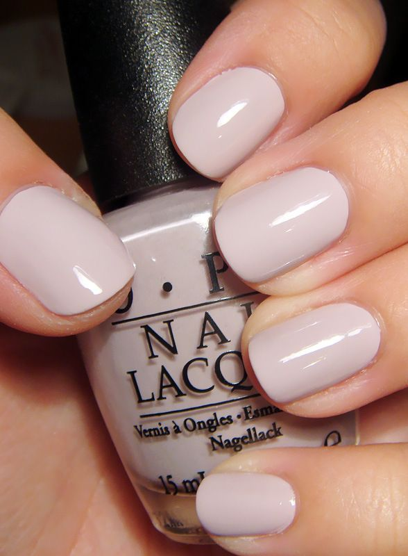 opi's 'steady as she rose' - so simple, classic, goes with anything! - Hello wedding nail colour!