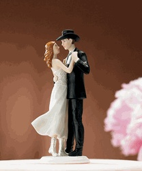 Minus the whole southern wedding theme, I love the idea of a dancing cake topper!