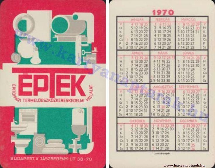 1970 - 1970_0448 - Régi magyar kártyanaptárak