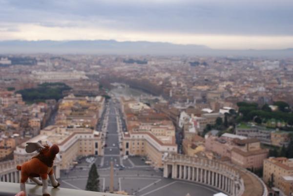 Overlooking city, from Vatican