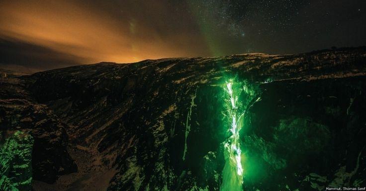 Escalada nas cascatas de gelo na Noruega - Fotos - Meio Ambiente