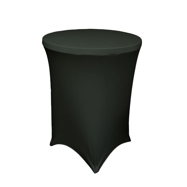 URBY Highboy Cocktail Round Table 32 By 42 Inch Spandex Fitted Stretchable  Elastic Tablecloth Table Cover Diameter X Height Black