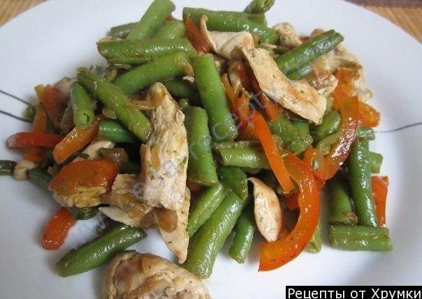 Салат фасоль шампиньенами