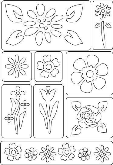 Glass Painting - FolkArt Peel & Stick Painting Stencils - Floral