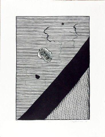 Stanisław FIJAŁKOWSKI (ur. 1922), IX Studia talmudyczne, 1978 linoryt, papier, 64 x 49 cm; opisana u dołu: IX Studia talmudyczne e.a. S. Fijałkowski
