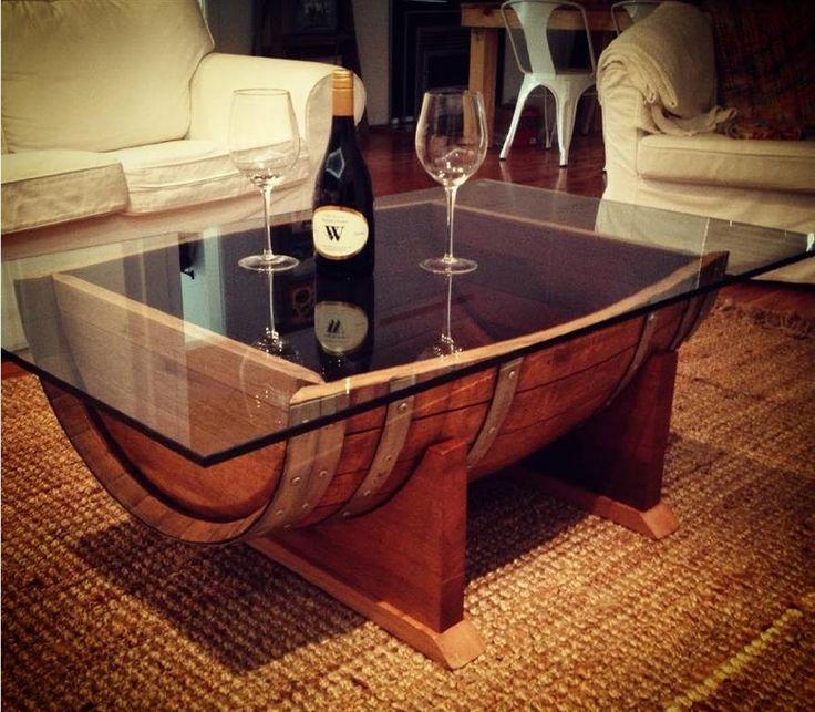 25+ beste ideeën over barrel coffee table op pinterest - whiskey