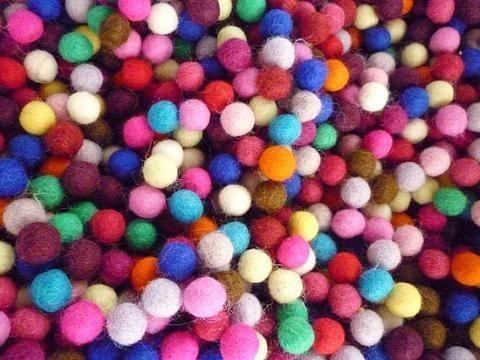 New 1cm felt ball colours.