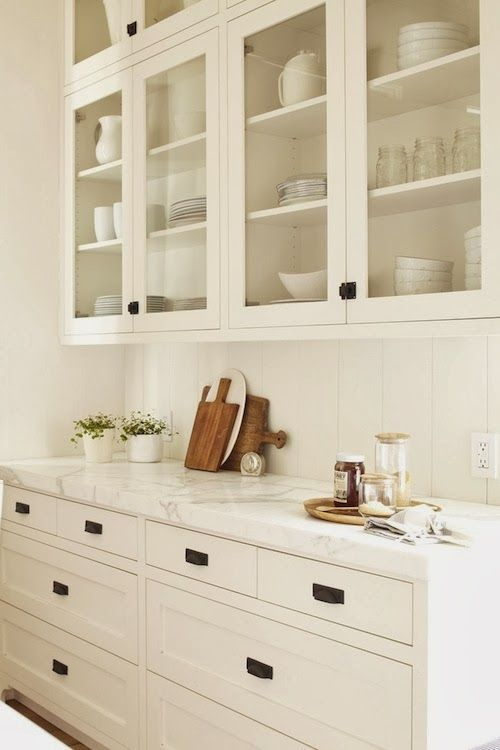 hardware used in this kitchen edge bin pulls on the lower drawers and latches on - Kitchen Hardware Ideas