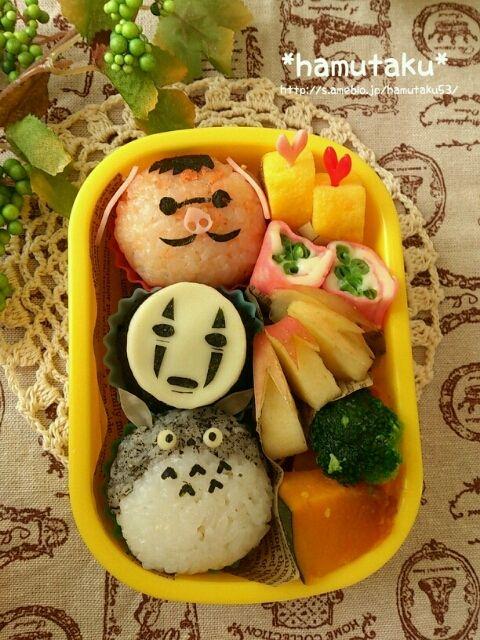 Ghibli onigiri bento