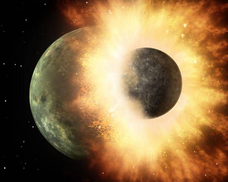 La collisione con un piccolo pianeta portò la vita sulla Terra?