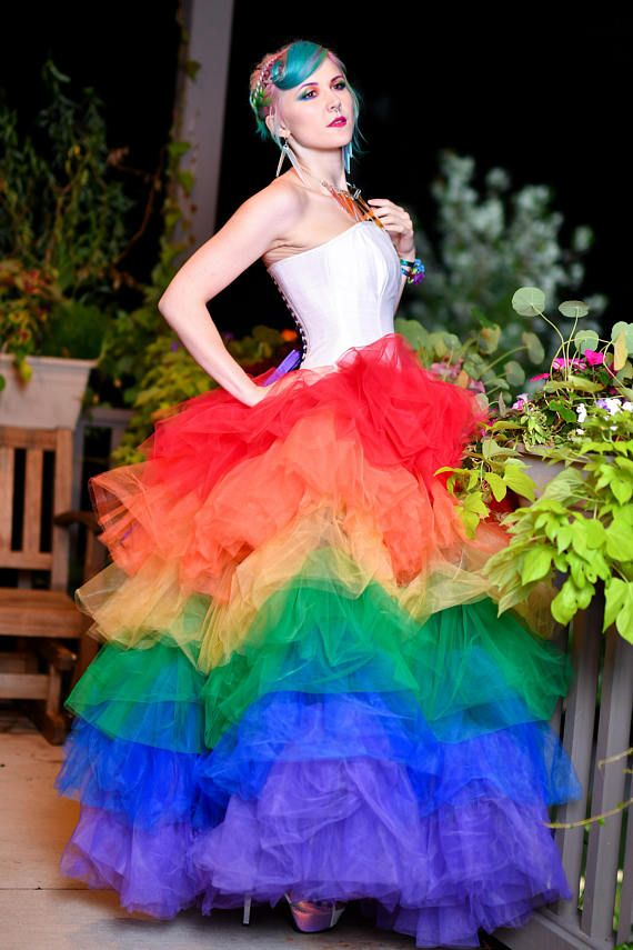 Rainbow Prom Dresses with Tulle