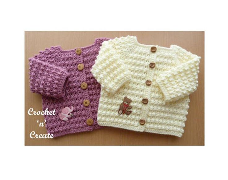 Photo of Knobbly Baby Cardi Crochet Pattern (DOWNLOAD) CNC39