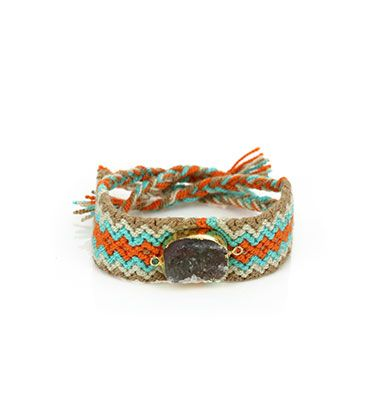 Wayuu Armband met Edelsteen 115 - €39,95
