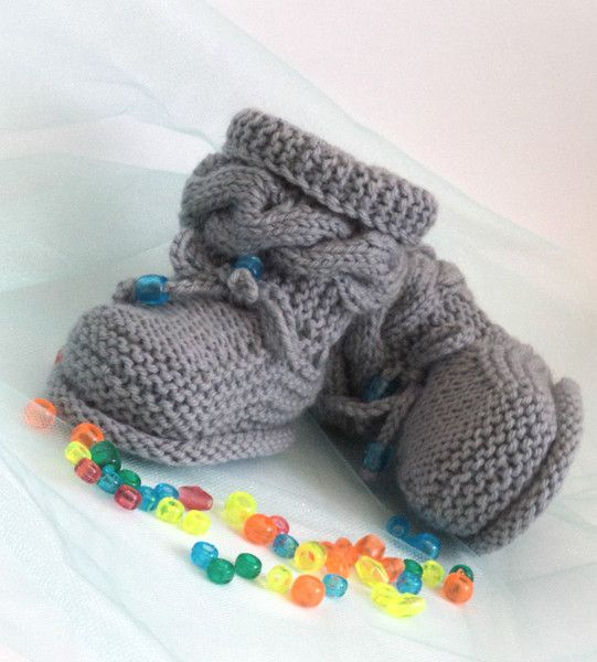Knitted baby shoes, Knitted baby shoes Baby shoes  from Crocheted booties, blanket, exclusive garments are handmade   LyudmilaHandmade by DaWanda.com