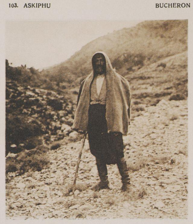 Ξυλοκόπος στο οροπέδιο Ασκύφου. Askiphu. Bucheron. 1919  BAUD-BOVY, Daniel…