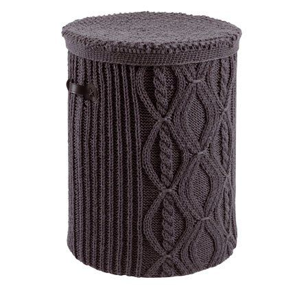 cabled laundry basket