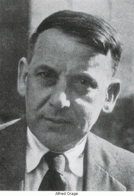 Alfred Richard Orage (22 January 1873 – 6 November 1934) was a British intellectual, now best known for editing the magazine The New Age. In 1924 Orage sold The New Age and went to France to work with George Gurdjieff, whom P. D. Ouspensky had recommended to him.