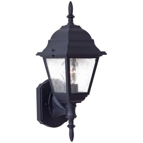 The Great Outdoors GO 9060 1 Light 16.5 Height Outdoor Wall Sconce from the Bay Hill Collection (Black Finish) (Aluminum)