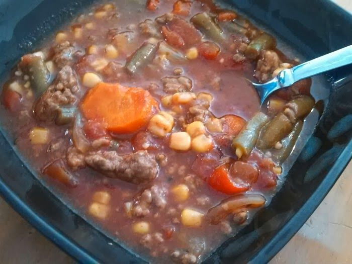 Also known as hobo stew, mulligan stew and beggar's stew, this delicious, slightly recipe is great for fall and winter days.