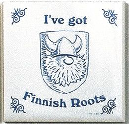 Finnish Culture Magnet Tile (Finnish Roots) - GermanGiftOutlet.com - 1