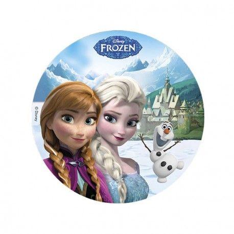 Disque sucre La Reine des Neiges 20 cm