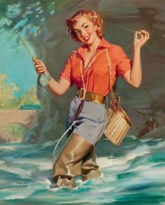 Vintage-Pin-Up-Fly-Fishing-William-Medcalf-PINUP584-Art-Print-A4-A3-A2-A1