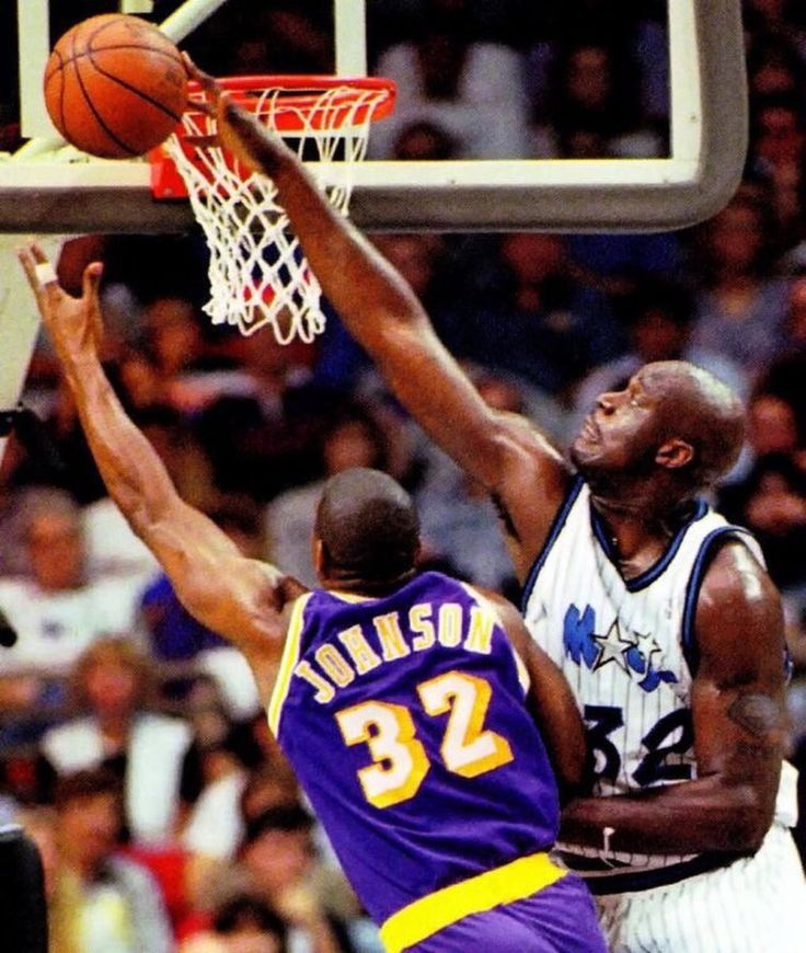 Legends. Shaq blocking magic | Basketball Legends ...