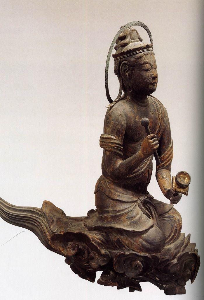 雲中供養菩薩像, 南4号像/Unchu Kuyo Bodhisattva   http://www.geocities.jp/saitohmoto/hobby/gakki/Byodoin/Byodoin.html