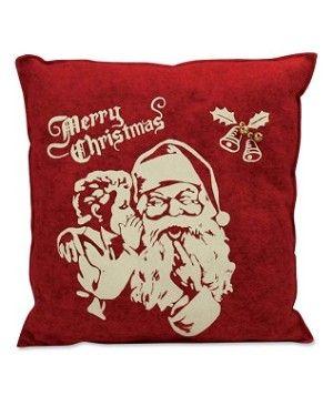 Felt Vintage Santa Pillow
