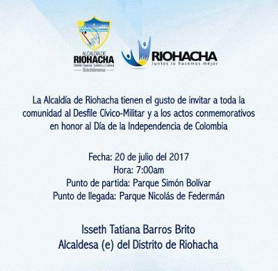 Entre Notas Rosa Multimedia: Alcaldía de Riohacha rememoró la independencia de ...