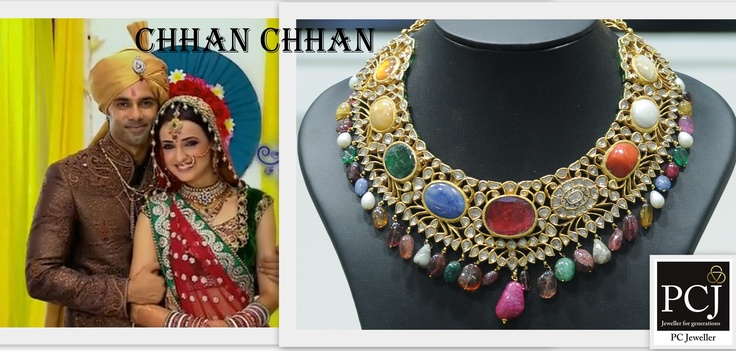 #PCJDiva picks for the #Wedding of Chhan Chhan on Sony TV (India) @SonyTV a beautiful @PC Jeweller Ltd #necklace