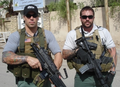 Boys w toys and tatts. Private Military Contractors
