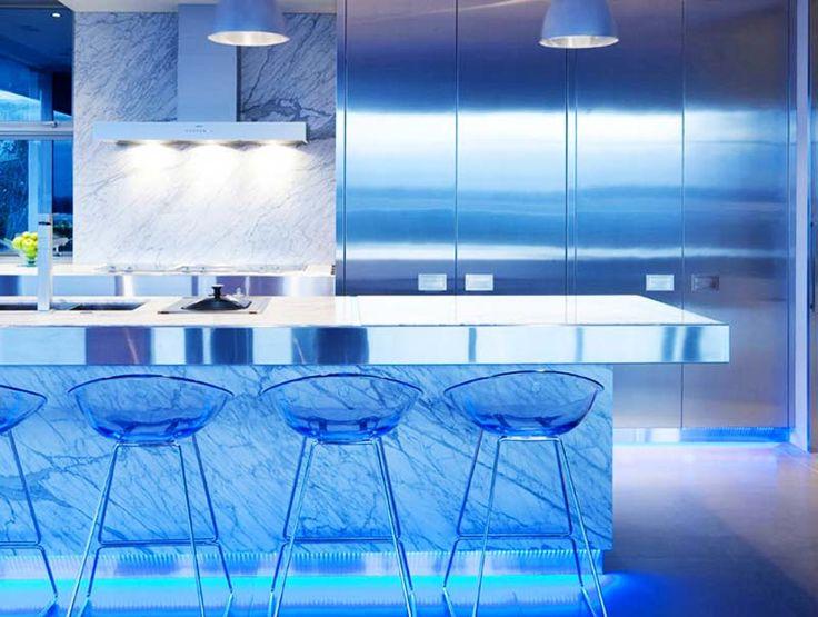 Светодиодное освещение на кухне.