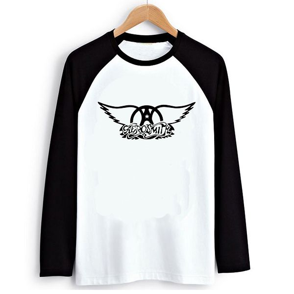 Buy now Punk Rock Music Aerosmith Logo PVC Letter Print Raglan Long Sleeve T-shirt Swag Skate Printed Tshirt Men Tee Shirts Streetwear  just only $12.95 with free shipping worldwide  #tshirtsformen Plese click on picture to see our special price for you