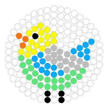 Budgerigar Perler Bead Pattern
