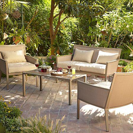 George Home Grace 4 Piece Sofa Set - Taupe & Linen