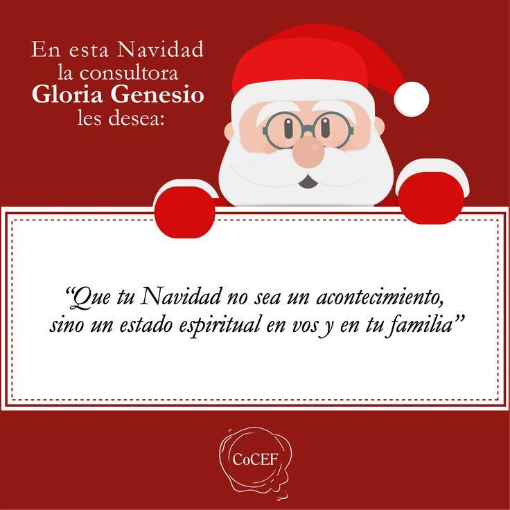 Saludo de Navidad de la consultora Gloria Genesio