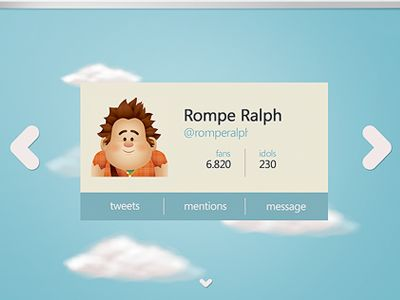 """User Profile screen.  Based on the design of Manu Gamero  """"Animated Profile"""", and Jerrod Maruyama character with incredible style.  By the way, I love the range of colors that I have used ^ _ ^  If..."""