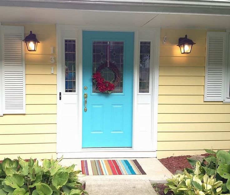 Image Result For Yellow Door And Teal Shutters Teal